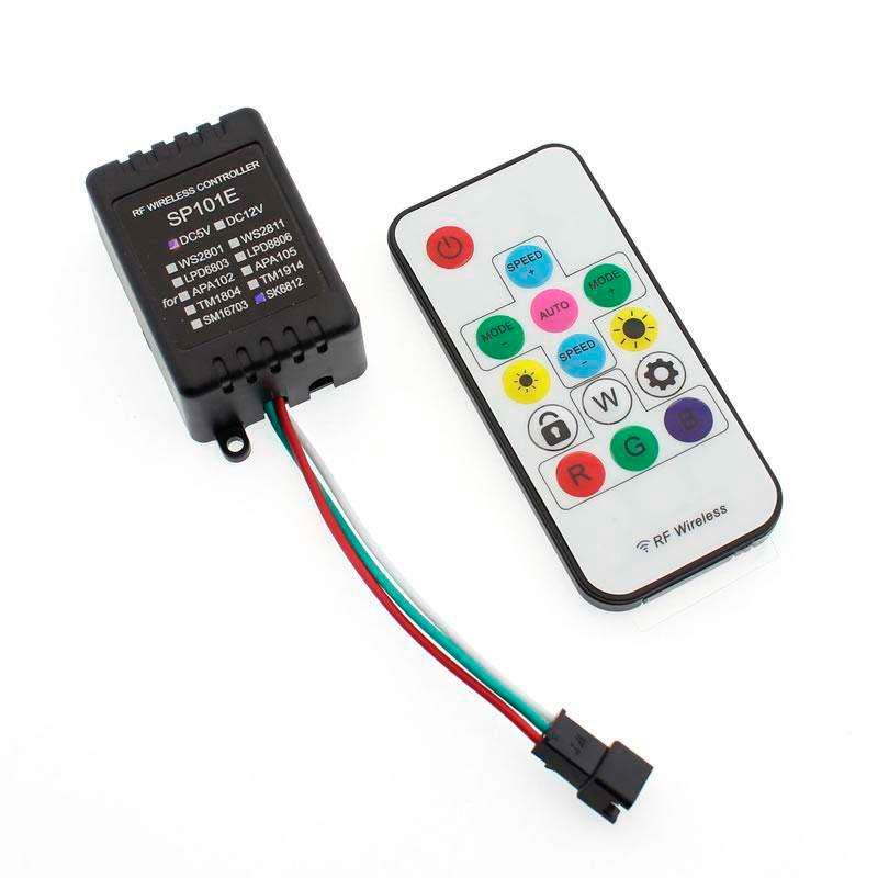 Controlador Sp101e Rf Para Tira Led Ic Digital Mando